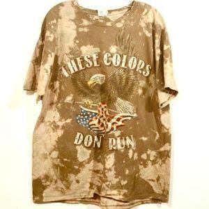 Patriot Custom T Shirt These Colors Don't Run XL